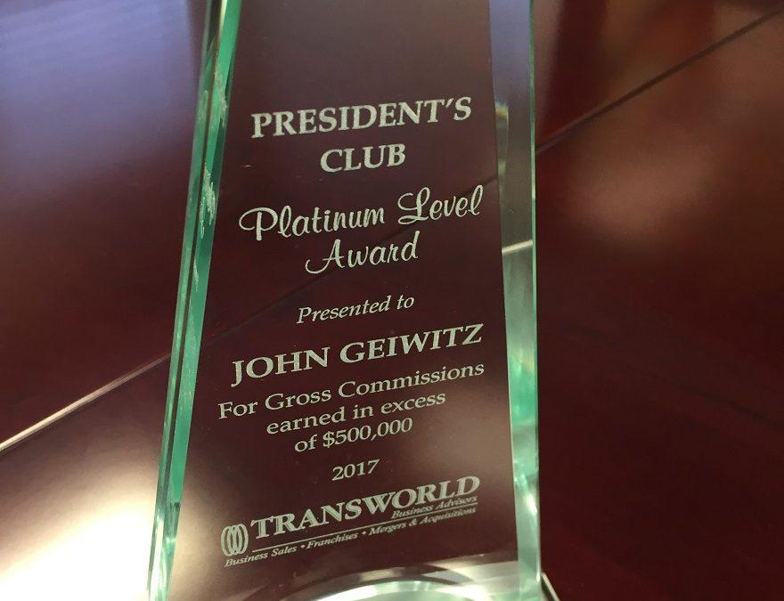 MVP and Top Business Broker Award in Jacksonville fl
