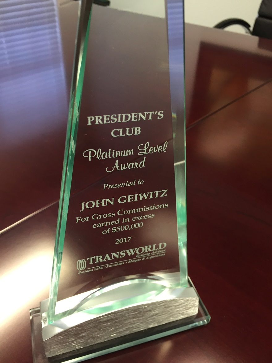 Mvp and top business broker award in jacksonville fl john geiwitz you see this phrase on the backs of business cards you hear it often repeated at networking meetings the phrase is one of the most quoted axioms in reheart Images